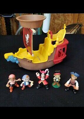 Jake And The Neverland Pirate Ship (DISNEY CAPTAIN HOOK JOLLY ROGER SHIP JAKE AND THE NEVERLAND PIRATES)