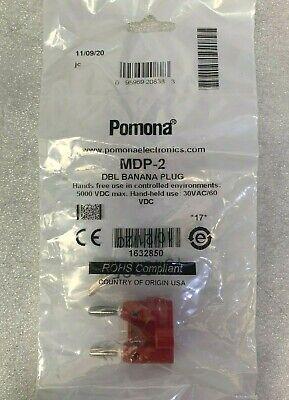 Pomona Mdp-2 Double Banana Plug Solderless Red