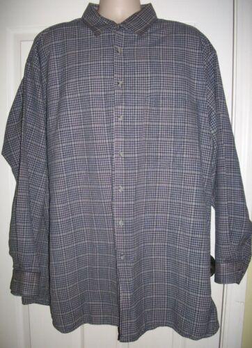 Men's Gray Plaid Shirt By Bankshot Size 3XLT