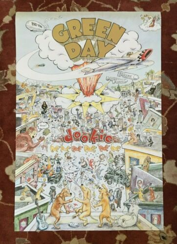 GREEN DAY  Dookie  rare original promotional poster from 1994
