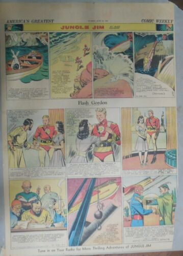 Flash Gordon Sunday by Alex Raymond from 6/29/1941 Large Full Page Size !
