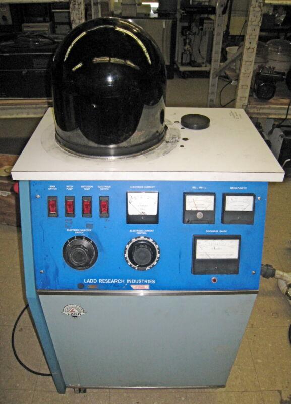 LADD Classic Floor Model Evaporator w/ diffusion pump & Carbon Evaporation Unit