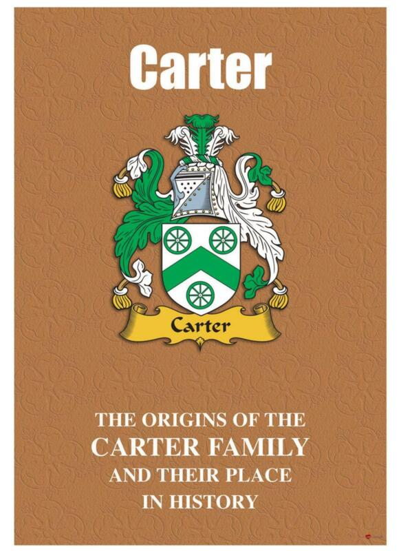Carter+English+Surname+History+Booklet+with+Historical+Facts+of+this+Famous+Name