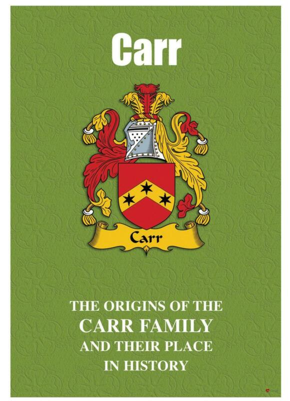 Carr+English+Surname+History+Booklet+with+Historical+Facts+of+this+Famous+Name