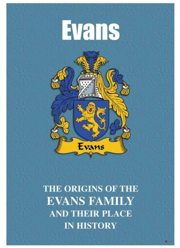 Evans+English+Surname+History+Booklet+with+Historical+Facts+of+this+Famous+Name