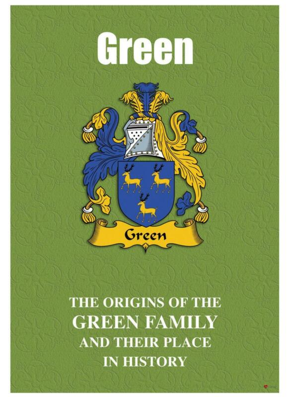 Green+English+Surname+History+Booklet+with+Historical+Facts+of+this+Famous+Name