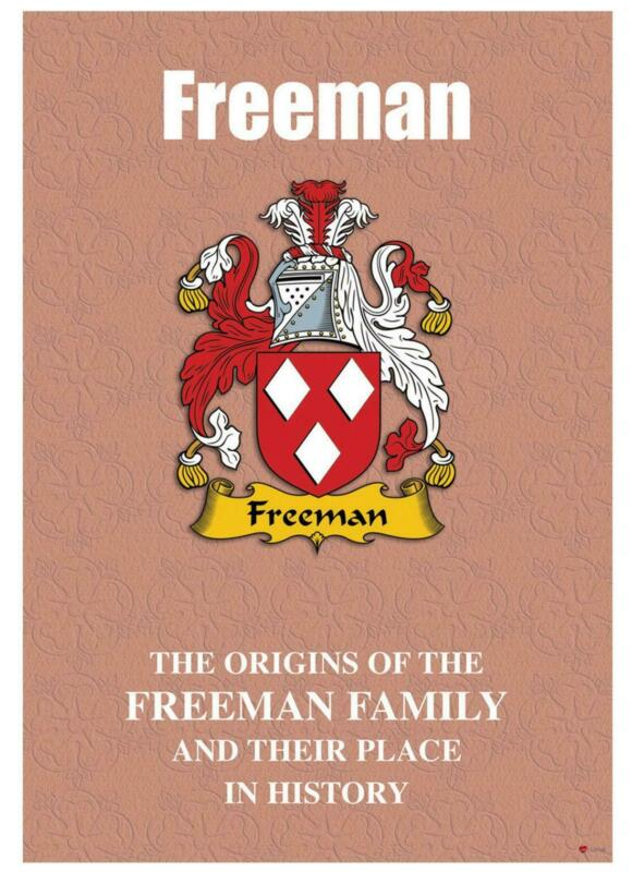 Freeman+English+Surname+History+Booklet+with+Historical+Facts+of+the+Name