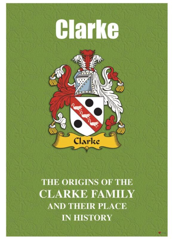 Clarke+English+Surname+History+Booklet+with+Historical+Facts+of+this+Famous+Name