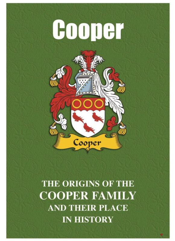 Cooper+English+Surname+History+Booklet+with+Historical+Facts+of+this+Famous+Name