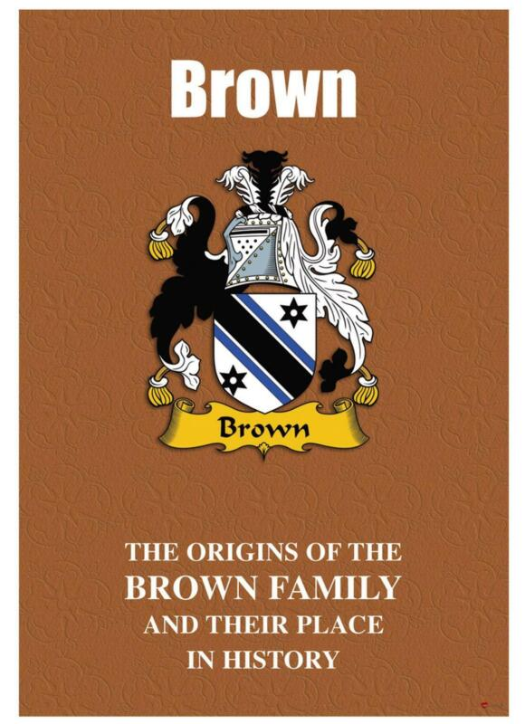 Brown+English+Surname+History+Booklet+with+Historical+Facts+of+this+Famous+Name