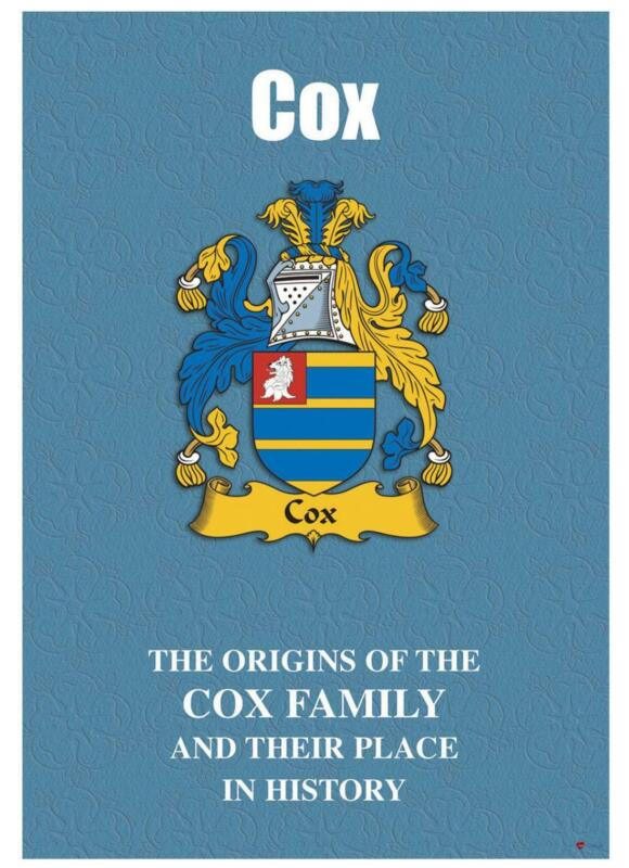 Cox+English+Surname+History+Booklet+with+Historical+Facts+of+this+Famous+Name