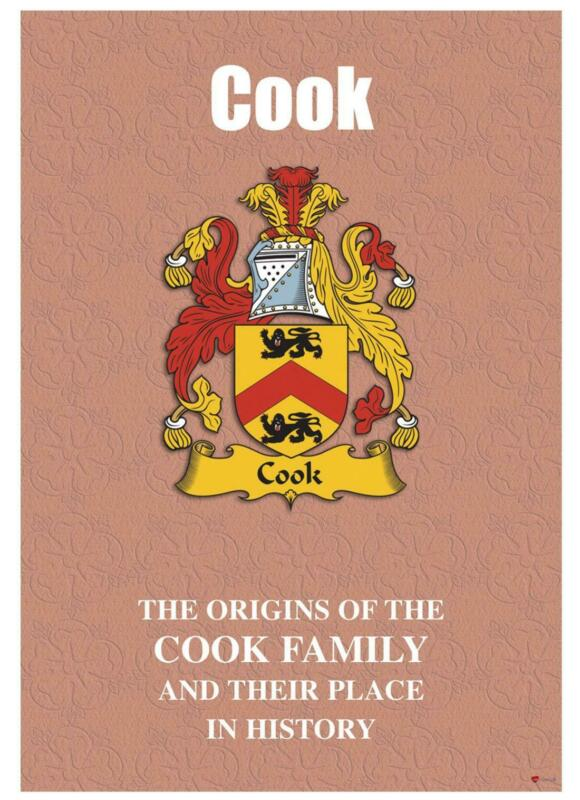 Cook+English+Surname+History+Booklet+with+Historical+Facts+of+this+Famous+Name