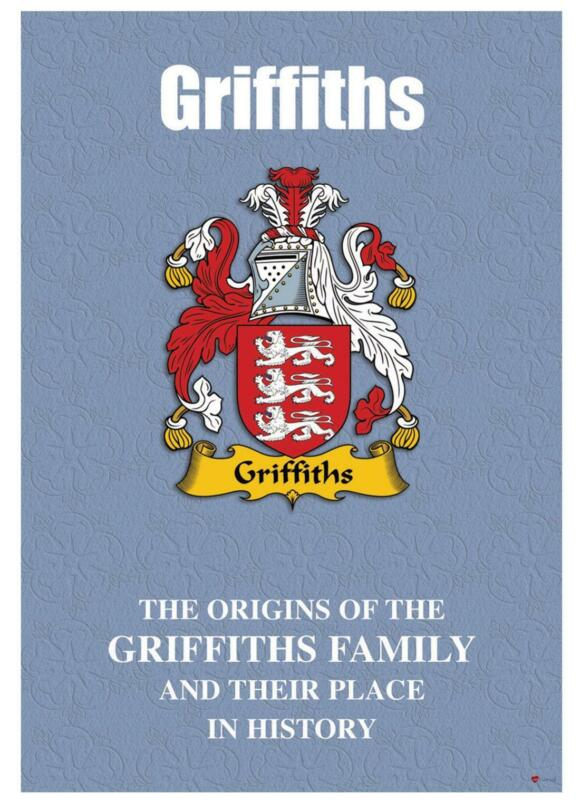 Griffiths+English+Surname+History+Booklet+with+Historical+Facts+of+the+Name