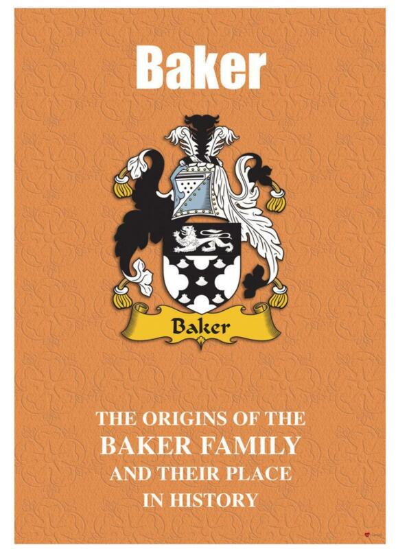 Baker+English+Surname+History+Booklet+with+Historical+Facts+of+this+Famous+Name
