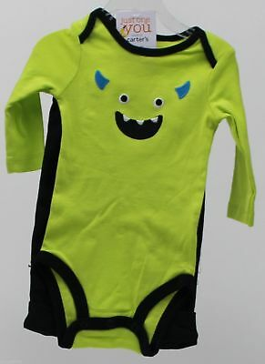 Halloween Carter's Green Monster Bodysuit Black Boo Pant Size Newborn NWT