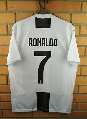 1e5dea4cdb6 Ronaldo Juventus jersey medium 2018 home shirt soccer football CF3489 Adidas