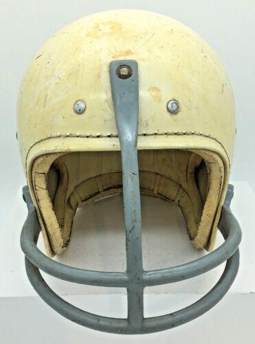 Vtg White Football Helmet Model 700T 6 3/4 6 7/8  Dungard Style Facemask Youth