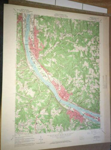 Ambridge Pa. Beaver Co USGS Topographical Geological Survey Quadrangle Old Map