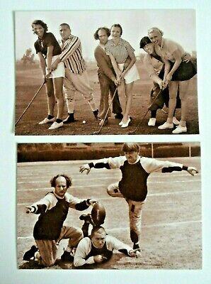 The Three Stooges Sports Football & Golf Postcards
