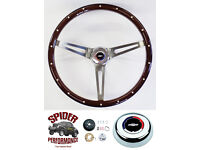"""1969-1973 Chevelle steering wheel RED BOWTIE 14/"""" LEATHER"""