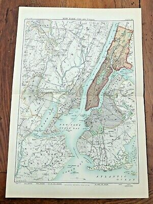 circa 1880s colour one fold map titled