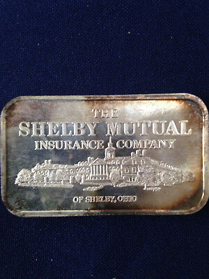 1981 Tri State Refining Shelby Mutual Insurance Co  Tsr 5V Silver Art Bar P1326