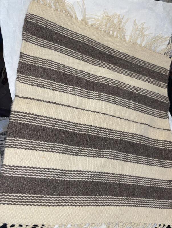 "Southwestern US Wool Blanket Wall Hanging 15""x 14 1/2"" Vintage! Hand Woven"
