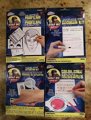 Secret Spy Agent Detective Kits Finger print Color code Criminal profiling Kids