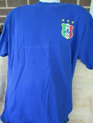 FIFA World Cup 2006 Germany  Blue  T-Shirt Size L Italy Graphics 2006 Italy World Cup