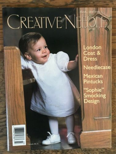 Creative Needle March Apr 2001 Magazine Uncut Sewing Patterns Pintucks Smocking