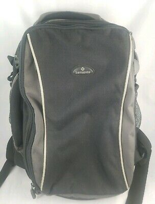 Samsonite Backpack with removable laptop bag connection black and charcoal