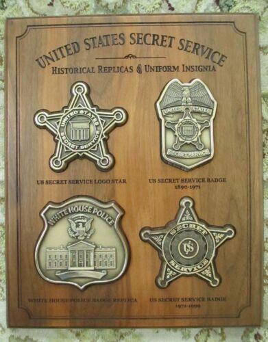 "United States Secret Service Historical Badges PlaqueRARE 1 of a kind! 12"" X 10"""