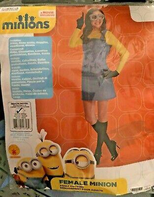 Minion Costume For Women (WOMEN'S HALLOWEEN FEMALE MINION ADULT COSTUME SIZE M  RETAIL)