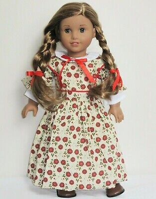 Red Floral Prairie Colonial Dress Gown for 18