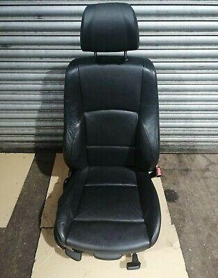 BMW 1 Series E87 LCI M Sport  Front Right Driver Side Offside Black Leather Seat