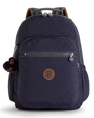 Kipling SEOUL GO Large Backpack with Laptop Compartment - Blue Tan Block