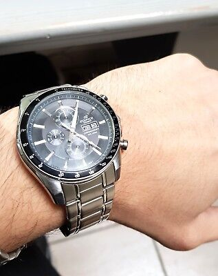 OROLOGIO CASIO EDIFICE  - MASSIVE STEEL WRISTWATCH - JAPAN MOVT RARE CRONOGRAPH for sale  Shipping to South Africa