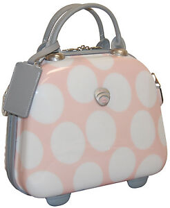 International Traveller Pink Dots Vanity Cosmetic Make Up Carry On Case Pink Dot