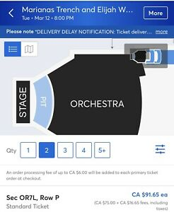 2 -Marians Trench tickets