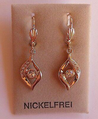 Ohrhänger mit Klappbrisur gold plattiert Ohrringe Gold Juweliersqualität NEU