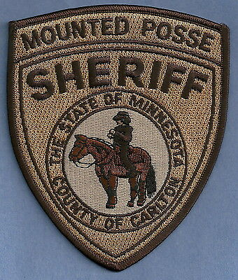 CARLTON COUNTY SHERIFF MINNESOTA MOUNTED POSSE POLICE PATCH