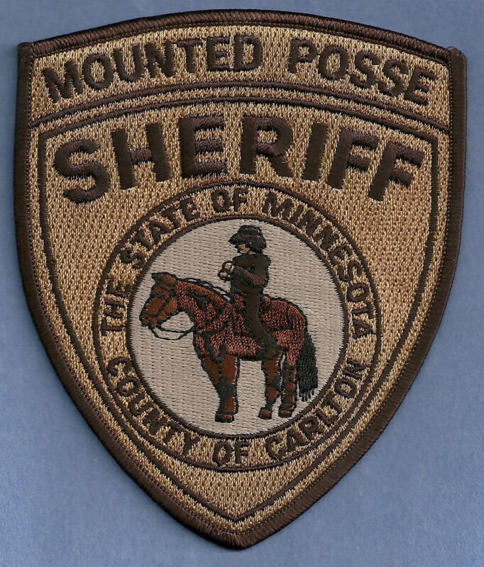CARLTON COUNTY SHERIFF MINNESOTA MOUNTED POSSE SHOULDER PATCH