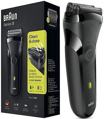 Braun Serie 3 300s Negro Máquina de Afeitar Recargable Cuchilla Original /...