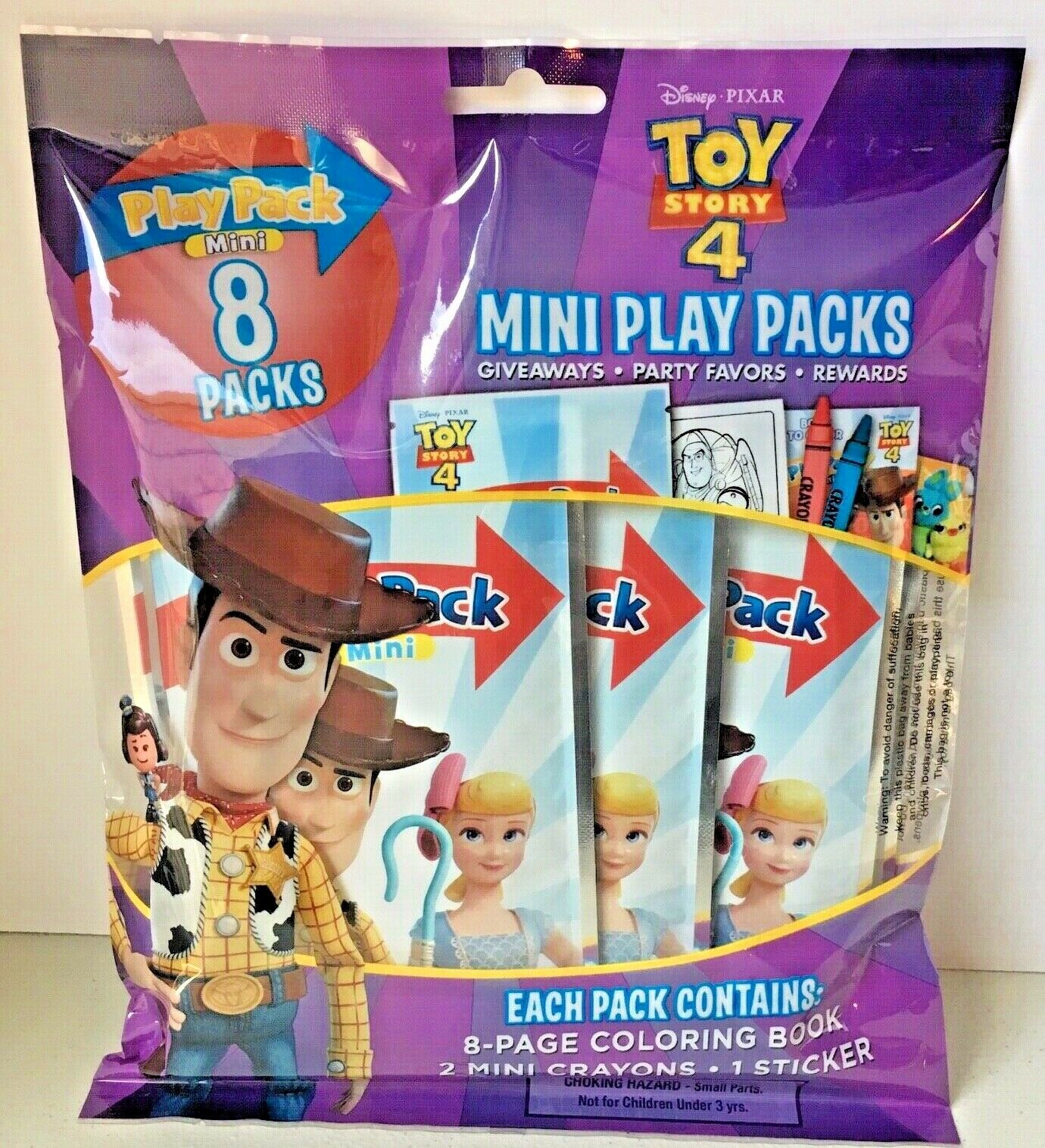 Disney Toy Story 4 Party Favor Mini Play Packs Coloring Book