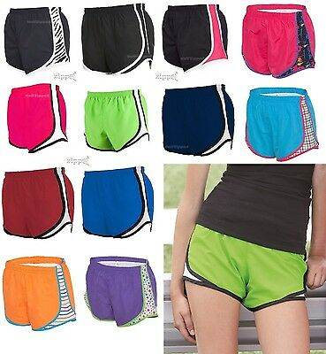 Ladies Running Short - Boxercraft Ladies Novelty Velocity Running Short P62 S-2XL Polyester Shorts