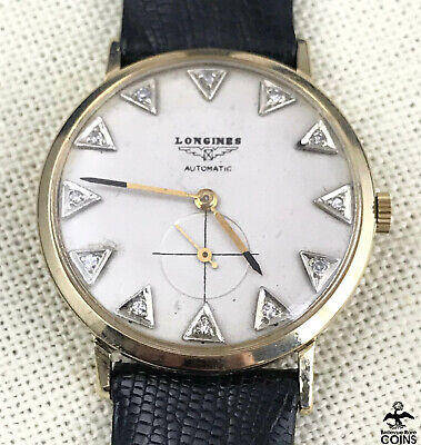 Vintage Longines Automatic Gold Filled Men's Watch with Gold Filled Elgin Band