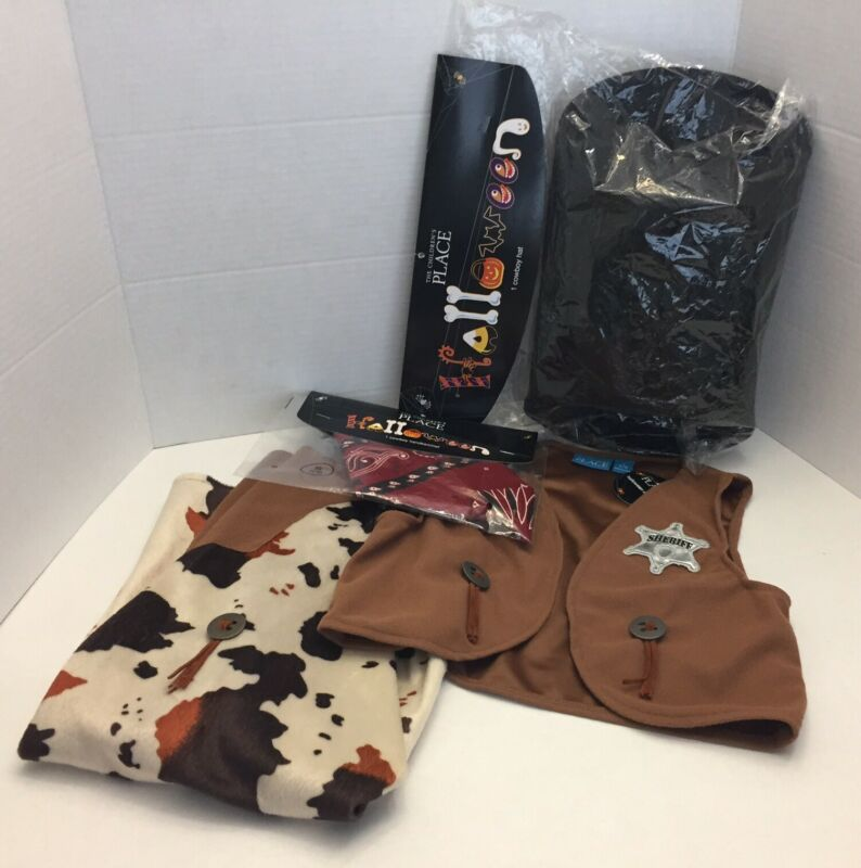 NWT Children's Place 4pc. Cowboy Sheriff Costume  Halloween S 5/6