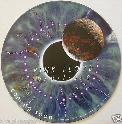 Pink Floyd  Pulse   Coming Soon  U S  Promo Circle Shaped Cardboard Poster