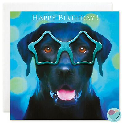 Birthday Card for BOYS or GIRLS to or from Black Labrador Retriever Dog lover ()