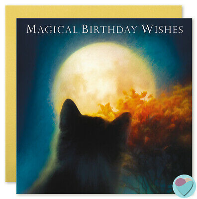 Black Cat Birthday Cards Mummy Daddy Love You to Moon and Back to from the - Black Cat Birthday